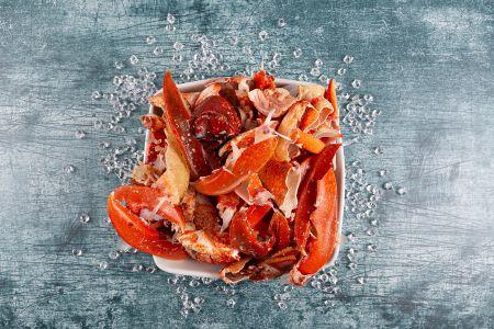 Lobster bones for stock