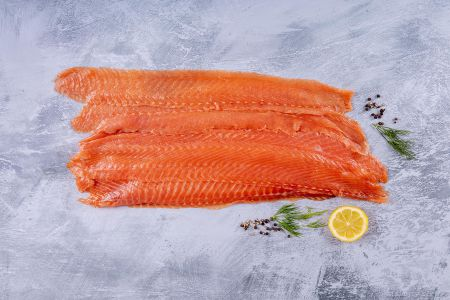 Smoked Salmon long sliced 500g