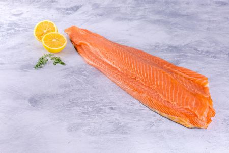 Smoked Salmon Side Long Sliced
