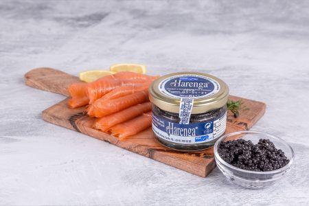 Black Roe Caviar and Smoked Salmon