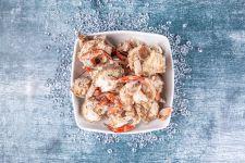 Crab bones for stock