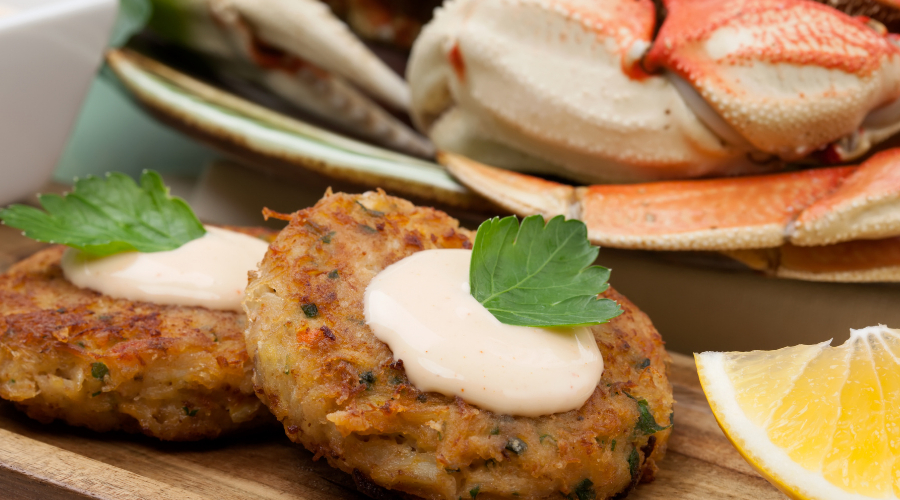 Crab Cakes and Seaweed