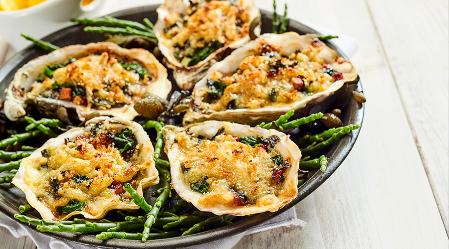 Oysters Gratin Recipe