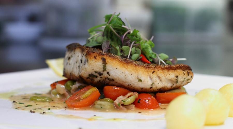 Grilled Sea Bass Darnes