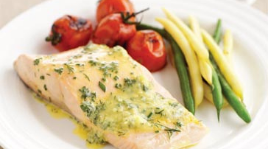 Poached Brill Fillets with Hollandaise Sauce