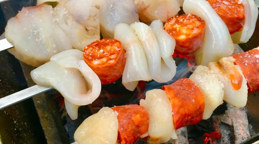 BBQ Seafood Skewers