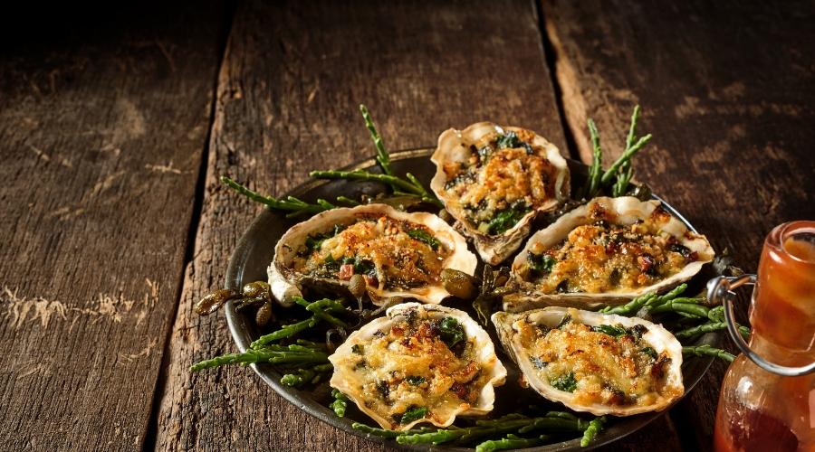 Crispy Focaccia Oysters