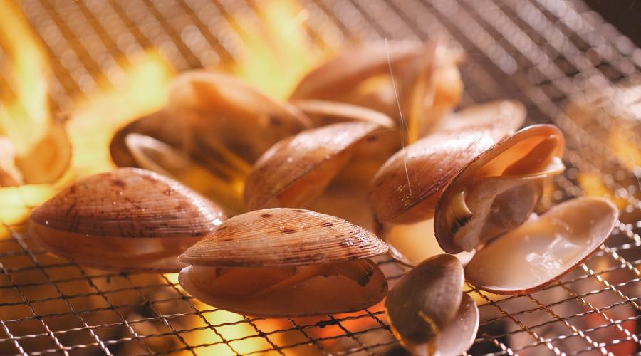 Wood fired shellfish